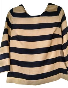 J.Crew Top Navy and Gold stripe