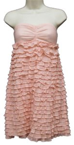 J.Crew short dress Light Pink Ruffles Summer Strapless on Tradesy