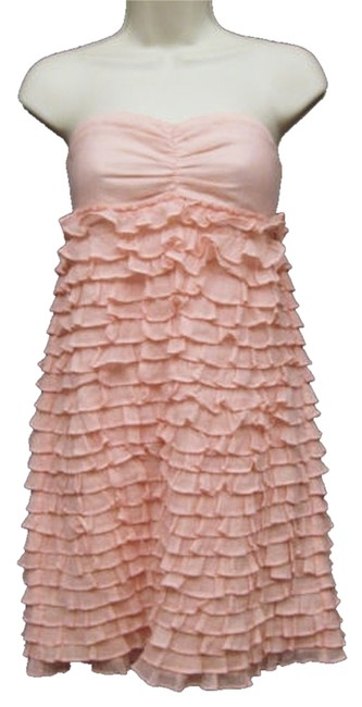 J.Crew short dress Light Pink Ruffles Summer Strapless Spring Beach Short on Tradesy