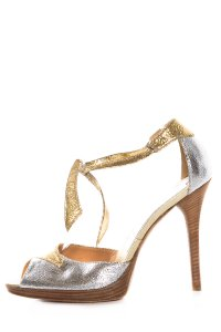 Casadei Silver and Gold Sandals