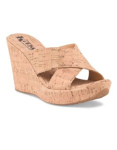 Kork-Ease Wedge Natural Cork Sandals