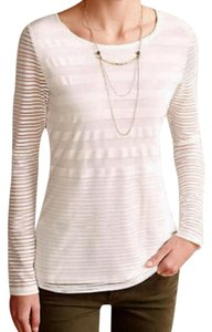 Anthropologie Sophisticated Silky Soft T Shirt NWT White