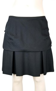 3.1 Phillip Lim Silk Wool Ruffle Flounce Mini Skirt BLACK