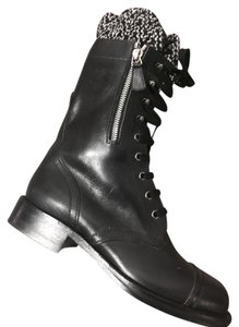 Chanel Combat Army Black Boots