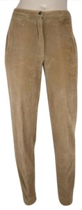 Piazza Sempione Brown Stretchy Corduroy Tapered Skinny Pants CAMEL BROWN