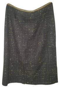 Tahari Skirt Black / Gold Metallic