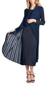 Navy Maxi Dress by Nabisplace Maxi Blue Pleats
