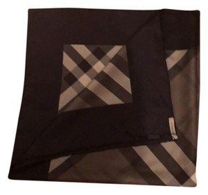 Burberry Black and Gray Check Square Scarf