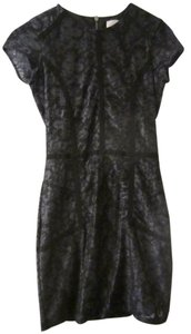 Vince Camuto Lace Zipper Detail Dress