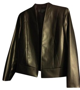 Tahari Shimmer Gold Leather Jacket