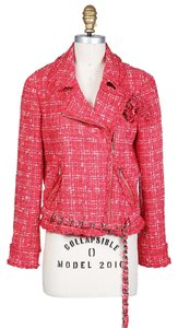 Chanel Moto Boucle red Jacket
