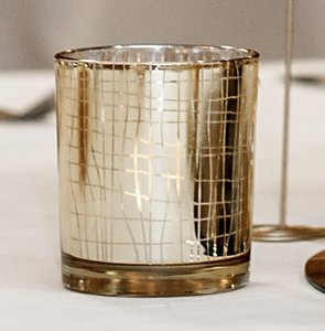 Mercury Gold Votive Holders - 80