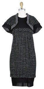 Chanel Tweed Mesh Sheath Empire Waist Dress