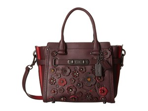 Coach Rare Willow 55523 Swagger 21 Satchel in Oxblood
