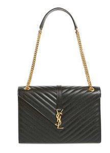 Saint Laurent Monogram Ysl Nero Matelasse Shoulder Bag