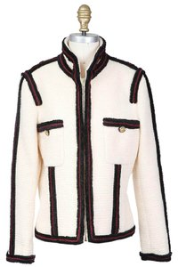 Chanel Tweed Piping Wool cream Jacket