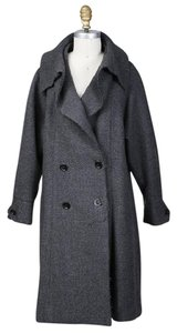 Chanel Double Breast Deconstructed Trench Wool Coat