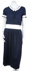 Chanel short dress navy Elastic Nautical on Tradesy