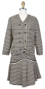Chanel Striped Knit Skirt Suit