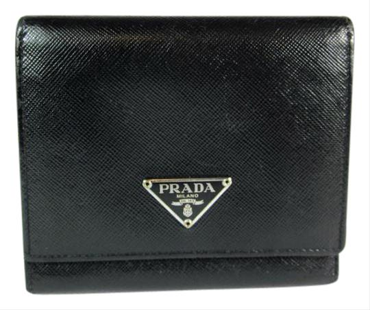 ad39d90ec090 Prada Black Saffiano Logo Wallet | Stanford Center for Opportunity ...