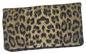 St. John leopard with Gold studs Clutch
