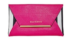 Juicy Couture Cross Body Cross-body Case Pink, Black, White, and Gold Clutch