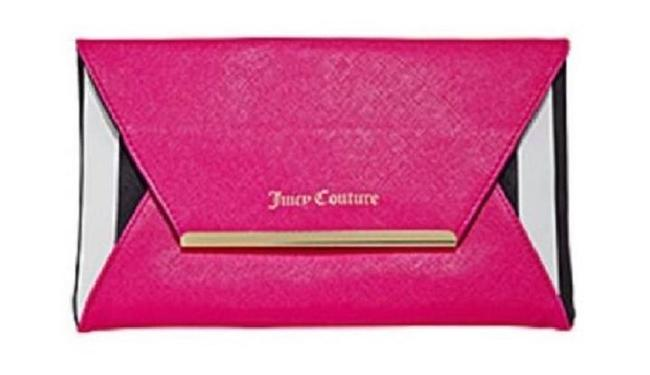 Item - Crossbody Envelope & Pink Black White and Gold Faux Leather Clutch