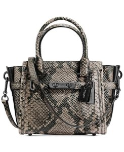 Coach Rare Swagger 21 38360 Snake Satchel in Neutral