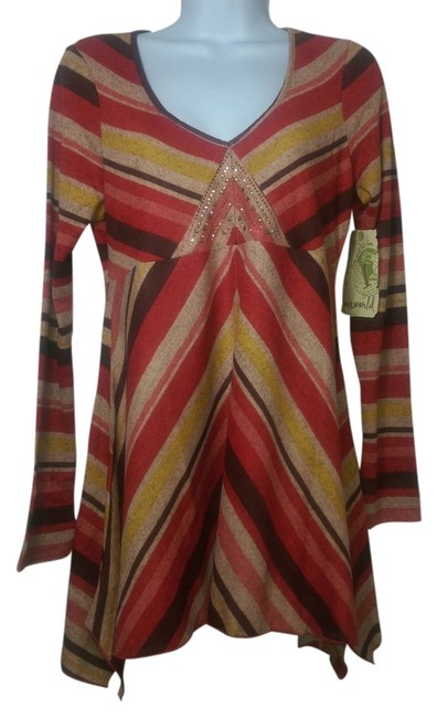 Preload https://item1.tradesy.com/images/one-world-tunic-red-2078505-0-0.jpg?width=400&height=650