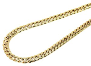 Other Mens 10K Semi Hallow 8 MM Miami Cuban Link Franco Necklace Chain 30