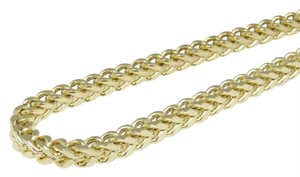 Other New Real 14k Yellow Gold Franco Box Cuban Chain Necklace 3.0 mm 28inch