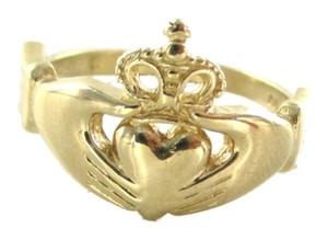 14K SOLID YELLOW GOLD CLADDAGH RING 2.7 GRAMS IRISH LOVE FRIENDSHIP LOYALTY BAND