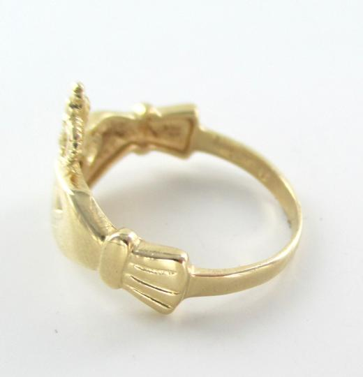 Other 14K SOLID YELLOW GOLD CLADDAGH RING 2.7 GRAMS IRISH LOVE FRIENDSHIP LOYALTY BAND