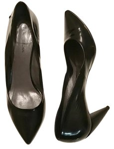 CoSTUME NATIONAL Leather Pointed Toe Black Pumps