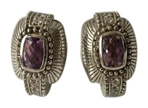 Judith Ripka Judith Ripka 18k White Gold 2ctw Amethyst .86ctw Diamond Earrings