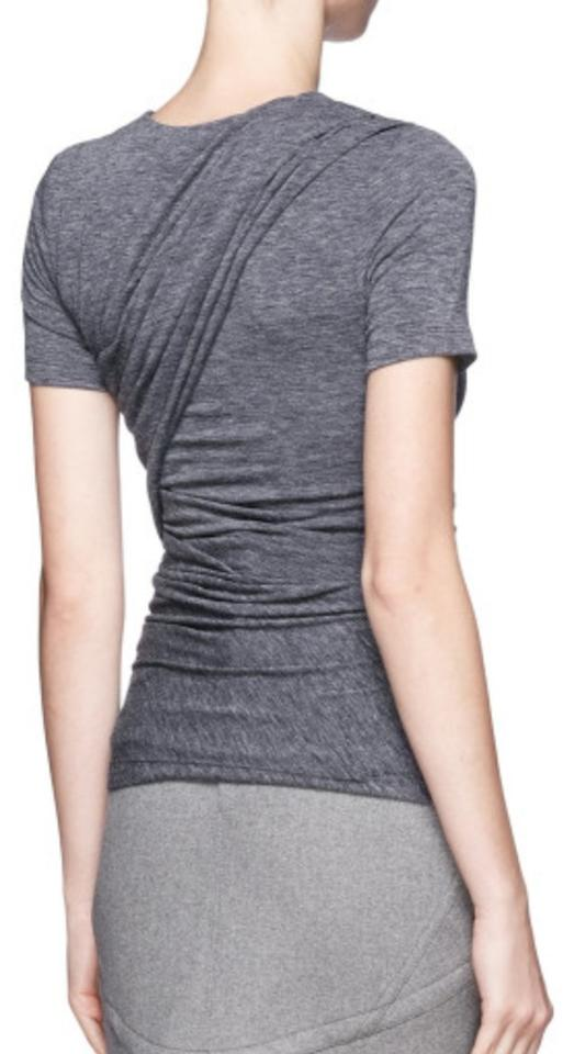 30ecaa2577e1 T by Alexander Wang Mohair Jersey Draped Crew Neck Sleeve Comfortable Drapes  Front And T Shirt. 12345
