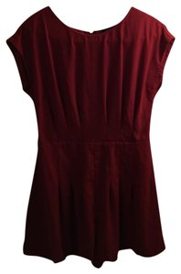 TopShop Pleated Playsuit Dress