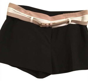 XOXO Mini/Short Shorts black with tan and white