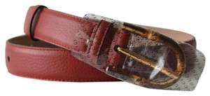 Gucci New Leather Bamboo Buckle Belt