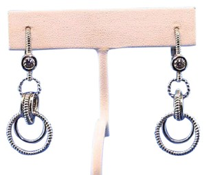 Judith Ripka Drop Dangle CZ Earrings in Sterling Silver 925