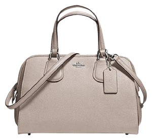 Coach L Leather Nolita F59180 Satchel in Grey Birch