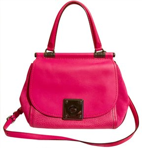 Coach Satchel in cerise pink