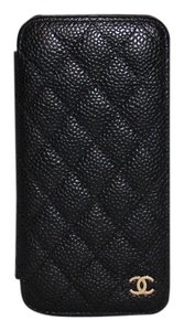 Chanel 2016 Medium Leather Quilted Phone Holder A80762