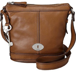 Fossil Leather Bucket Cross Body Bag