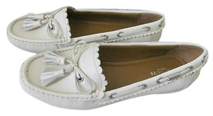 Coach Loafers 8 Penny Loafer Tassel Chalk Flats