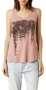 AllSaints Rare Sold Out Linen Top dusty pink