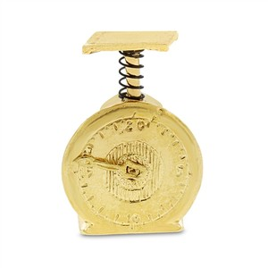 Other Vintage Industrial Weight Scale Moving Dial Charm Solid 14k Yellow