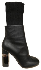 Chanel Kangaroo Stiletto Pump Leather black Boots