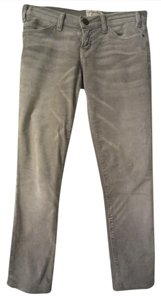 Current/Elliott Corduroy Low Waist Skinny Pants Grey
