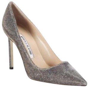 Manolo Blahnik metallic fabric Pumps